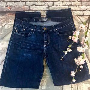 Rock & Republic Dark Wash Straight Leg Jeans